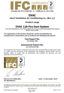 IFC Certificate 2 (Fire Rated)